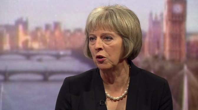 My £995 leather trousers ARE made from skin of sanctioned job seekers, Theresa May confirms