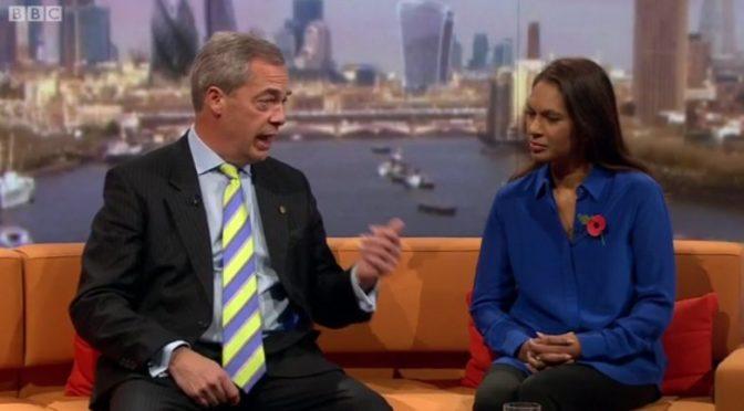 Nigel Farage finally admits he's definitely a fascist twat, nobody actually shocked
