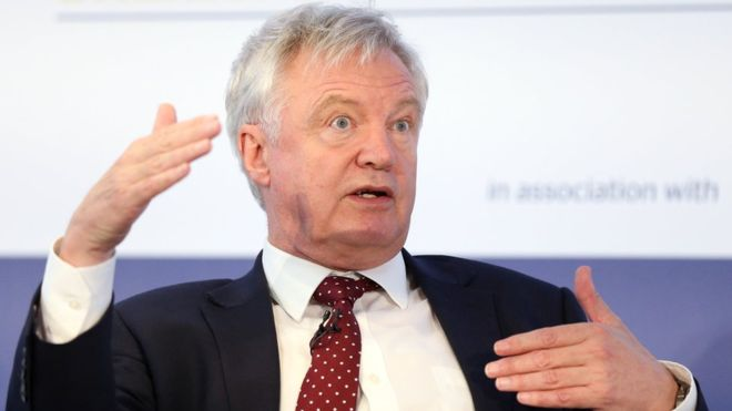 Invisible magic door would solve Northern Ireland border issue, says David Davis