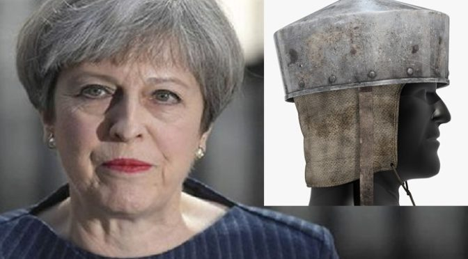 Basin haircut makes me look like a Crusader knight, boasts Theresa May