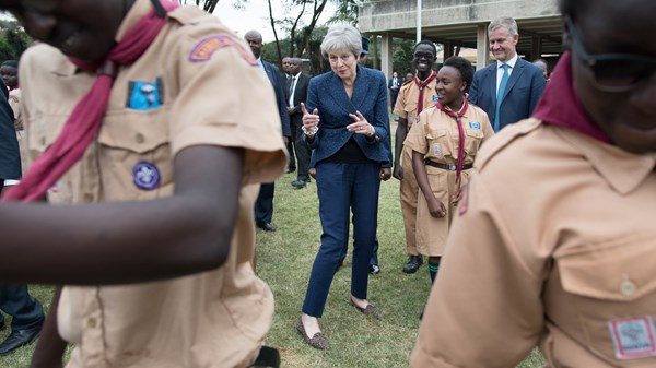 "Theresa May ""dropped an E"" before Africa ""rave"""
