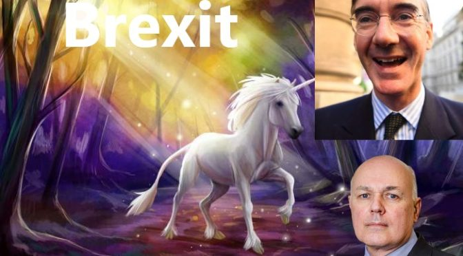 "Jacob Rees Mogg slams May's EU deal over ""lack of unicorns"""