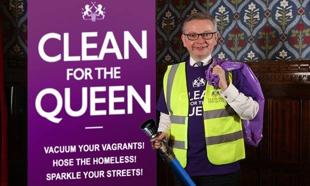 Michael Gove launches campaign to clean up homeless people with fire hoses