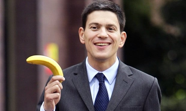 Man holding a banana thinks he looks prime ministerial