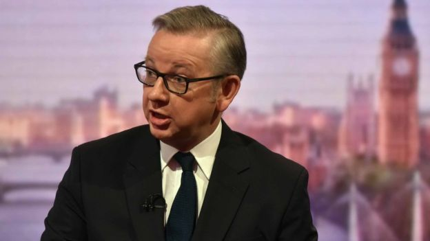 Increased industrial accidents would boost competitiveness after Brexit, claims Michael Gove
