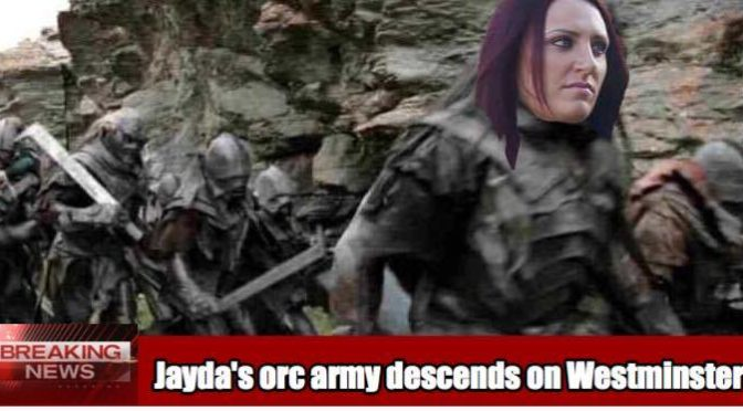 Britain First's Jayda Fransen to march on Westminster with army of 10,000 uruk-hai