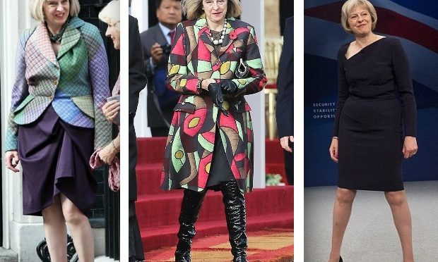 Theresa May's new year resolutions: learn to dress herself and stand properly