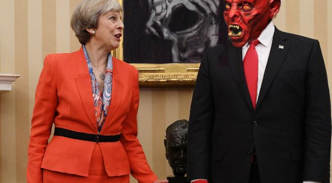 Theresa May to honour Satan with state visit