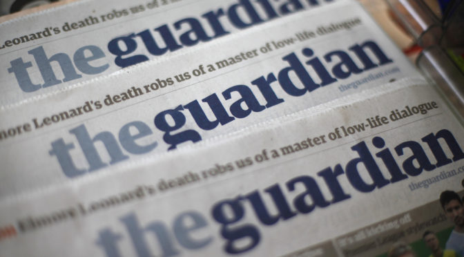 Guardian pretends to care but attacks anyone with track record of caring