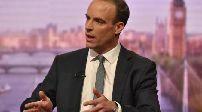 I didn't realise Britain was an island, says Dominic Raab